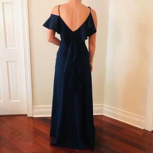 Zac Posen navy gala dress